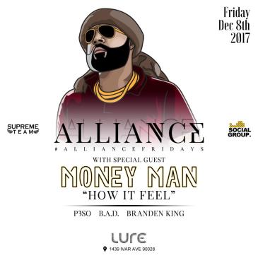 LURE FRIDAYS W/ MONEY MAN: Main Image