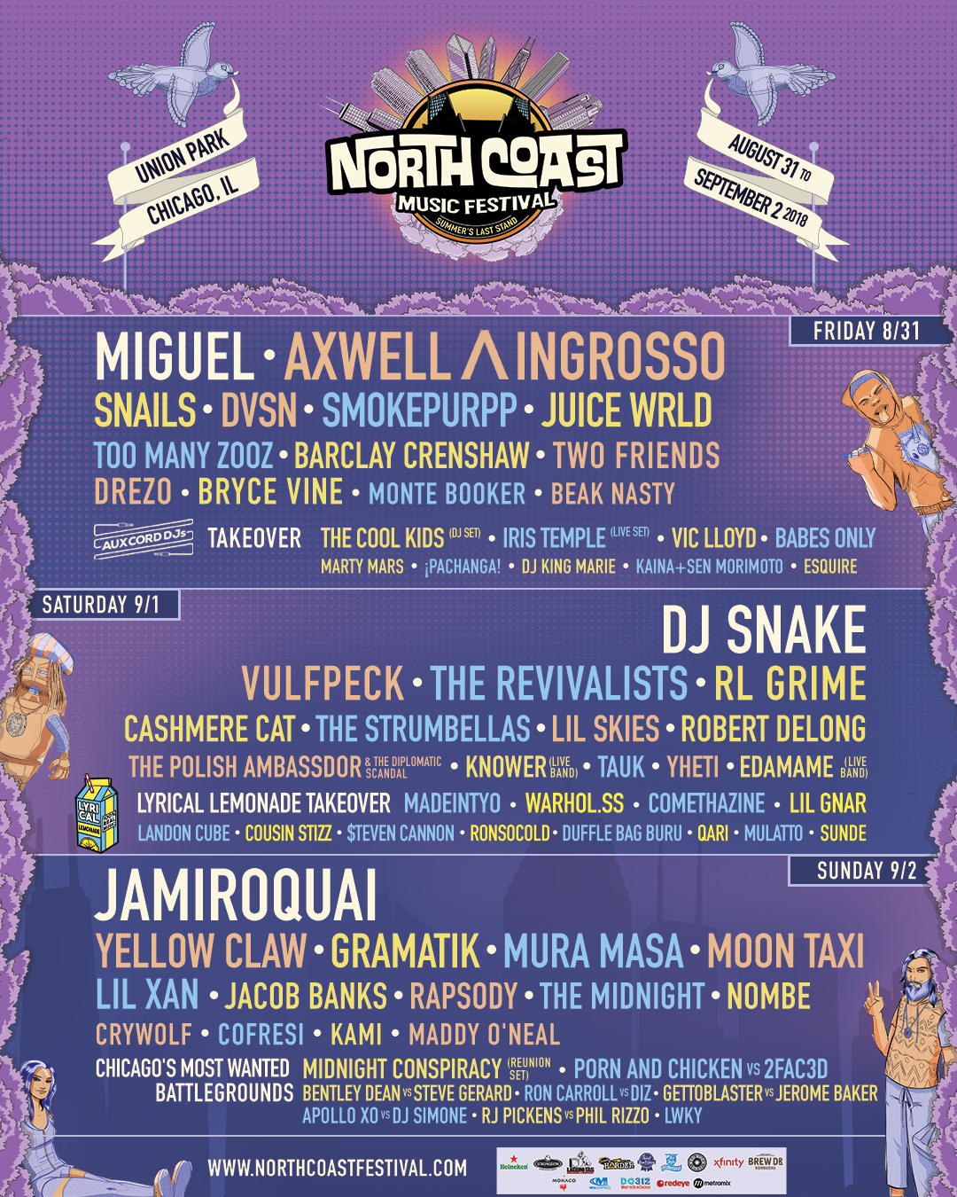 71fa543ccdfb4c12bf43a0b33354ed3f.image!jpeg.1611914.jpg.NCMF2018 Template 1080x1350 lineup On the Radar: North Coast Festival Lineup, Queen Biopic Drops New Trailer, Kanye West Reveals New LP Tracklist + More