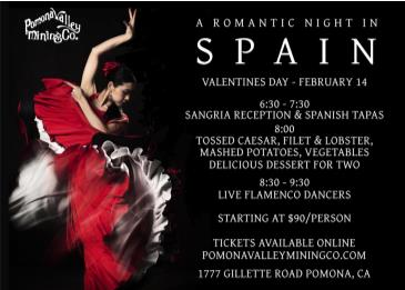 A Romantic Night In Spain  - Valentines Dinner: Main Image