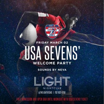 USA SEVENS WELCOME PARTY: Main Image