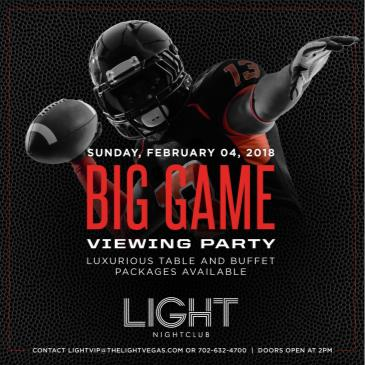 BIG GAME VIEWING PARTY: Main Image