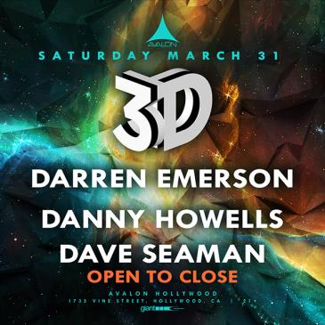 3D: Darren Emerson, Danny Howells, Dave Seaman: Main Image