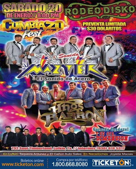 Cumbiazo Fest Lufkin Tickets Boletos Rodeo Disko