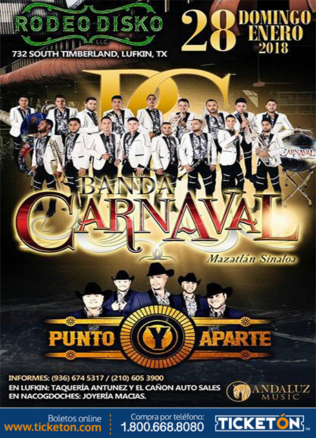 Banda Carnaval Lufkin Tickets Boletos Rodeo Disko
