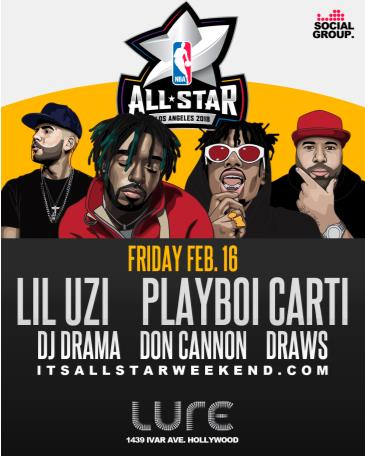 Lil Uzi + Playboi Carti + Dj Drama + Don Cannon NBA All Star: Main Image