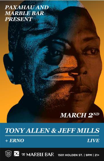 Paxahau & Marble Bar Present: Tony Allen & Jeff Mills - live: Main Image