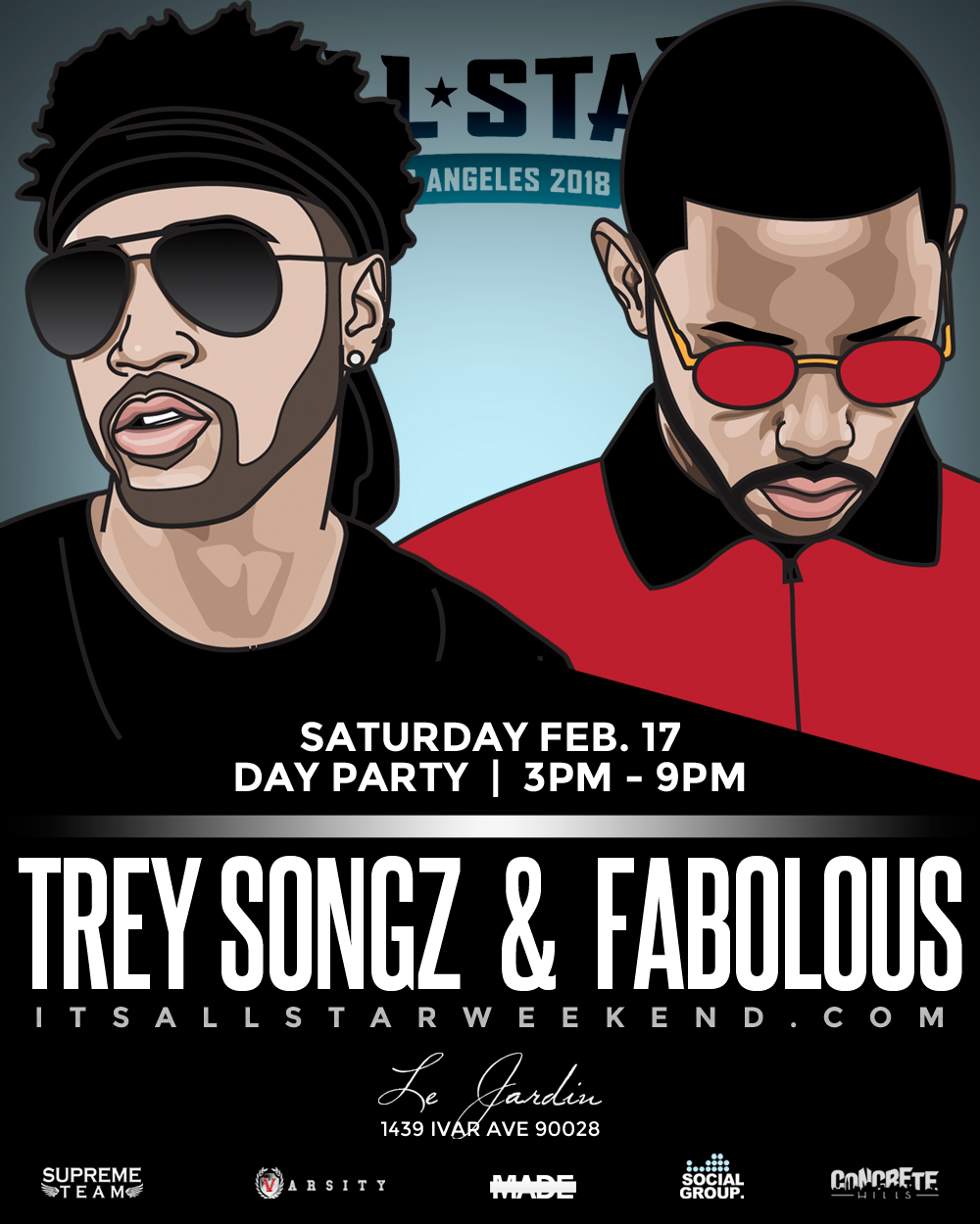 FABOLOUS + Trey Songz NBA All Star Day Party Tickets 02/17/18