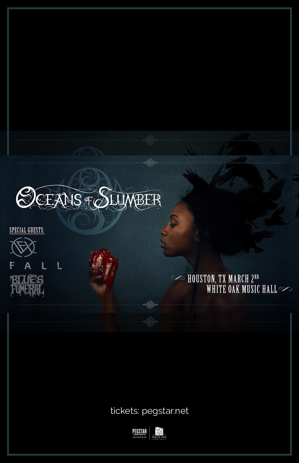 Oceans of Slumber Record Release, Vex, Fall, Blues Funeral