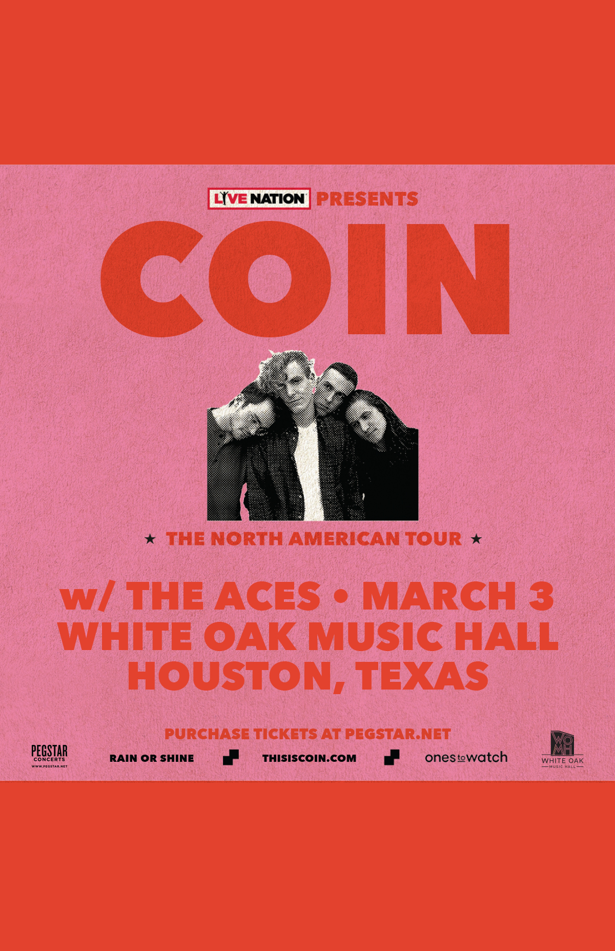Ones to Watch Presents COIN: The North American Tour 2018