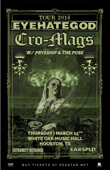 Eyehategod / The Cro-Mags, Pryeship, The Pose: Main Image