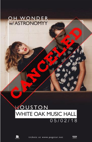 Oh Wonder, CANCELLED: Main Image
