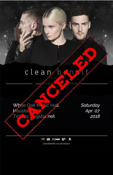 Clean Bandit CANCELED: Main Image