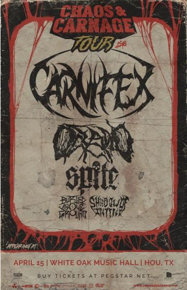 CHAOS & CARNAGE TOUR 2018 featuring CARNIFEX + MORE: Main Image