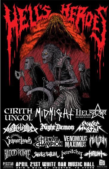 Hell's Heroes Festival: Cirith Ungol, Helstar, Midnight: Main Image