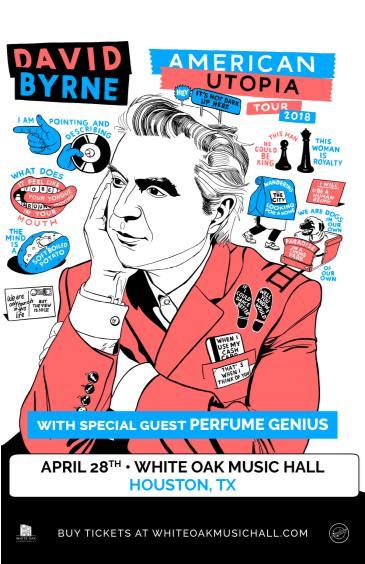 DAVID BYRNE: American Utopia Tour, Perfume Genius: Main Image