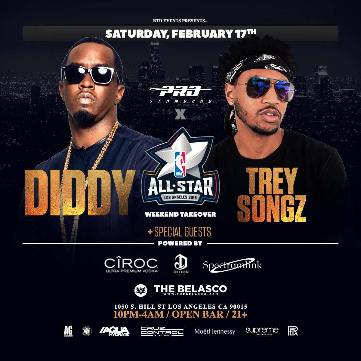 Diddy Trey Songz Nba All Star Weekend Takeover Tickets 021718