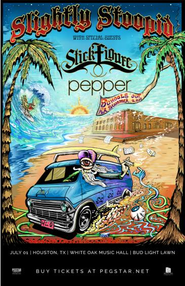 Slightly Stoopid, Stick Figure, Pepper: Main Image