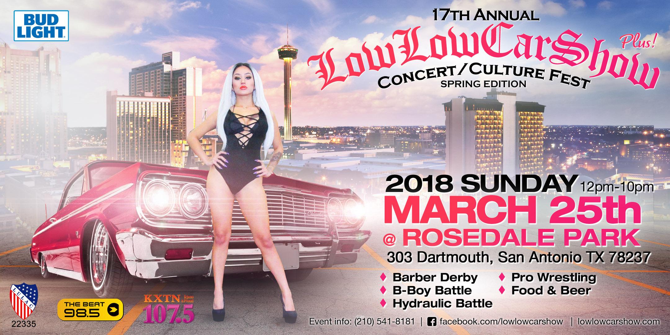 Low Low Car Show Concert Th Annual Tickets - Car show in san antonio tx