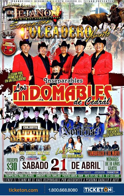 Los Indomables Tomado De: Coleadero Abierto Venus Tickets Boletos Lienzo Charro El Tex