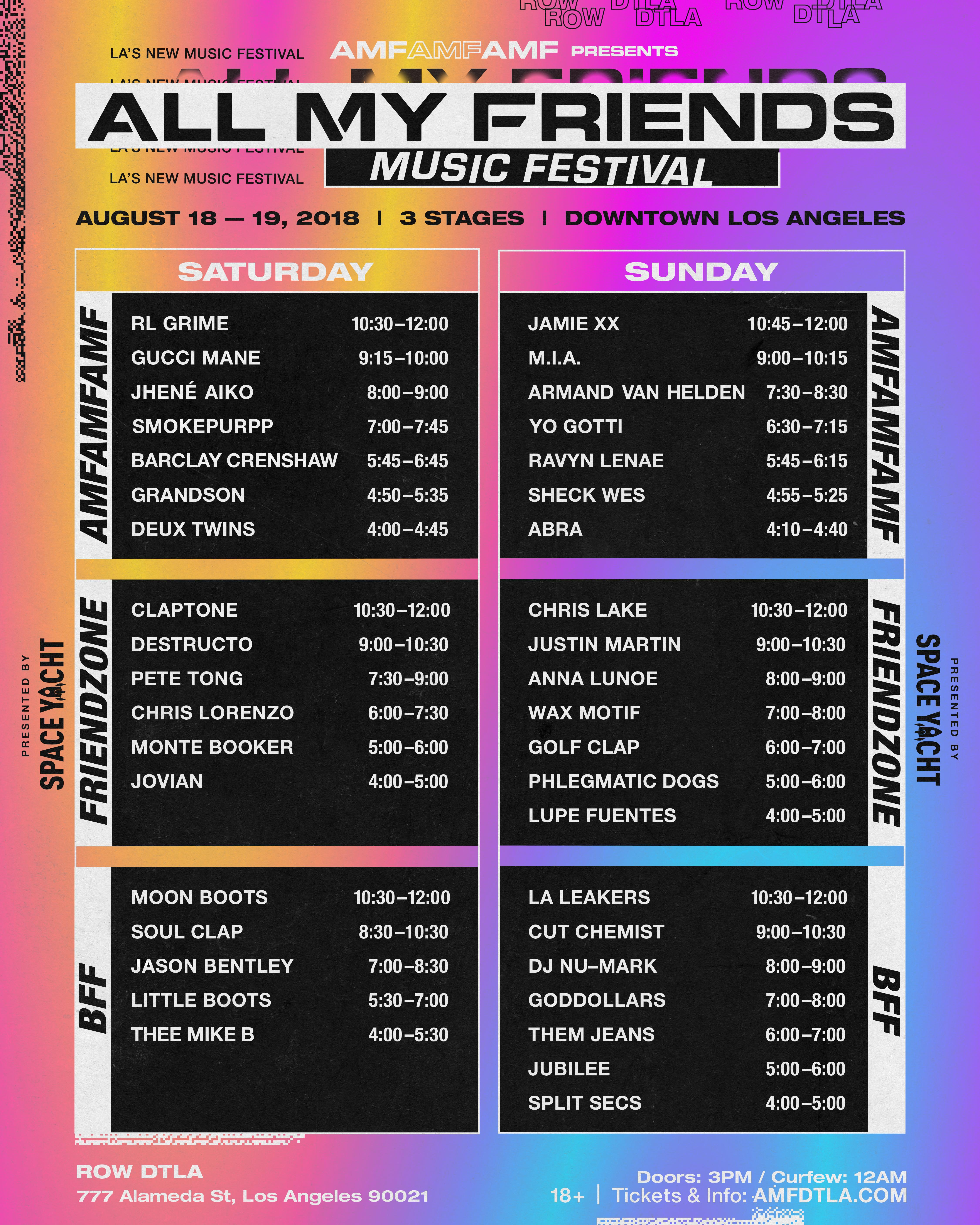 All My Friends Music Festival 2018 Tickets 08 18 18