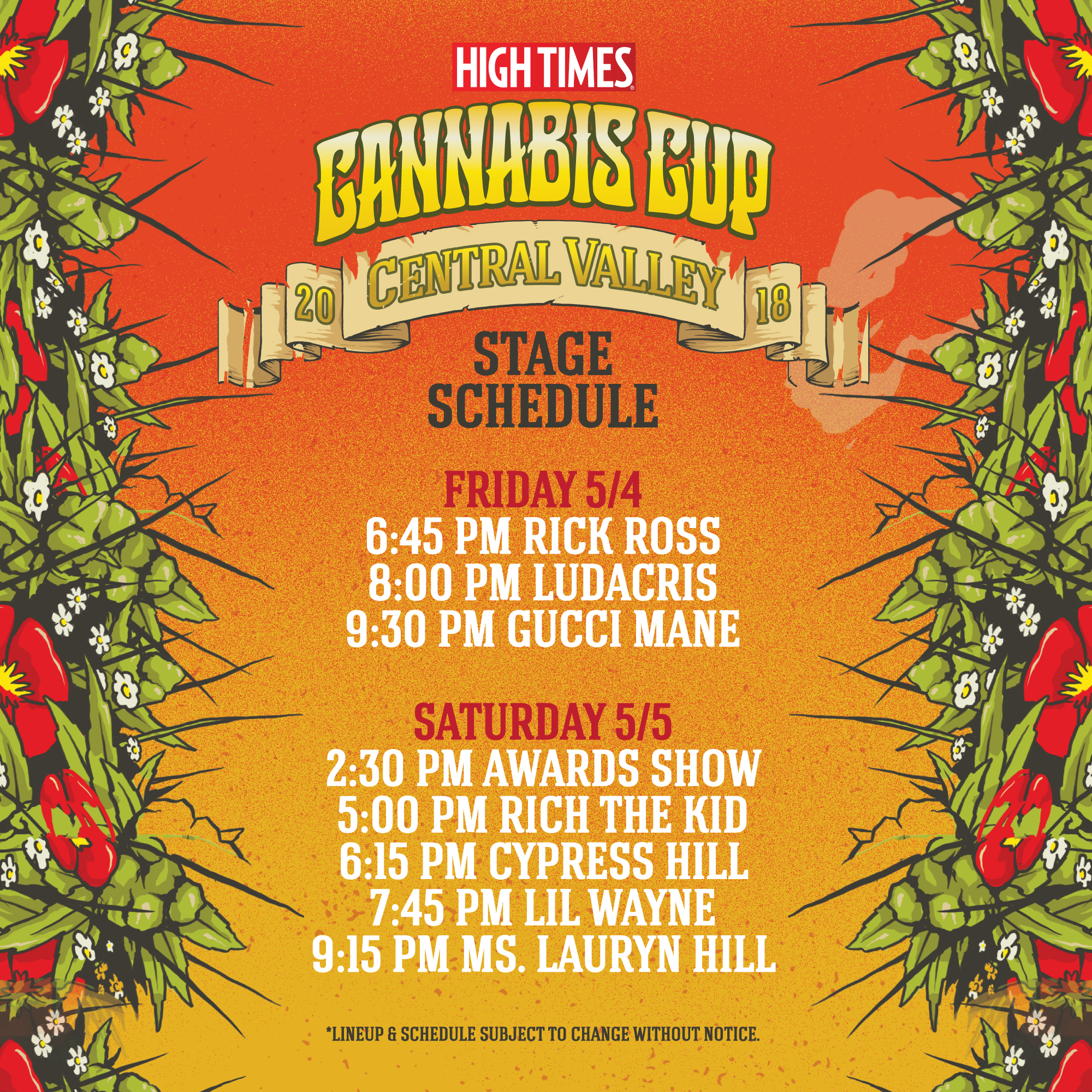 High Times Cannabis Cup Central Valley 2018 Tickets 050418