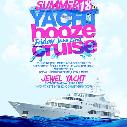 JEWEL YACHT BOOZE CRUISE PARTY AT SKYPORT MARINA | GametightNY.com