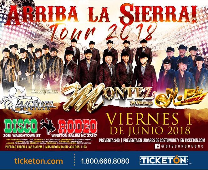 Arriba La Sierra North Carolina Tickets Boletos Disco Rodeo