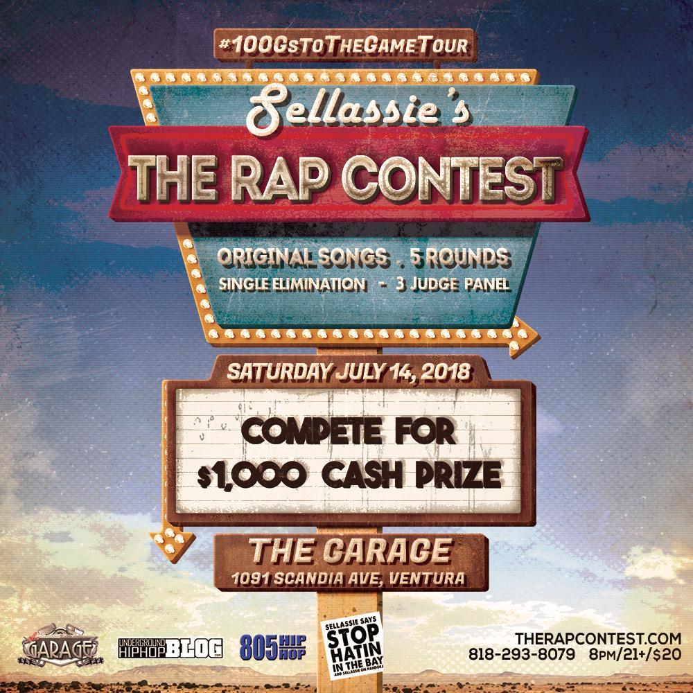Sellassie Presents The Rap Contest Tickets 07/14/18