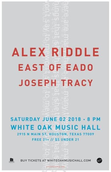 Alex Riddle, East of EaDo, Joseph Tracy: Main Image