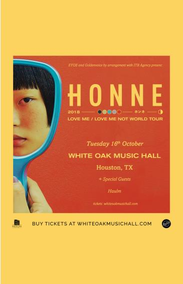 HONNE LOVE ME/LOVE ME NOT TOUR, Haulm: Main Image