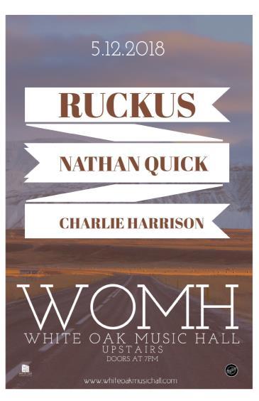 Ruckus, Nathan Quick, Charlie Harrison: Main Image