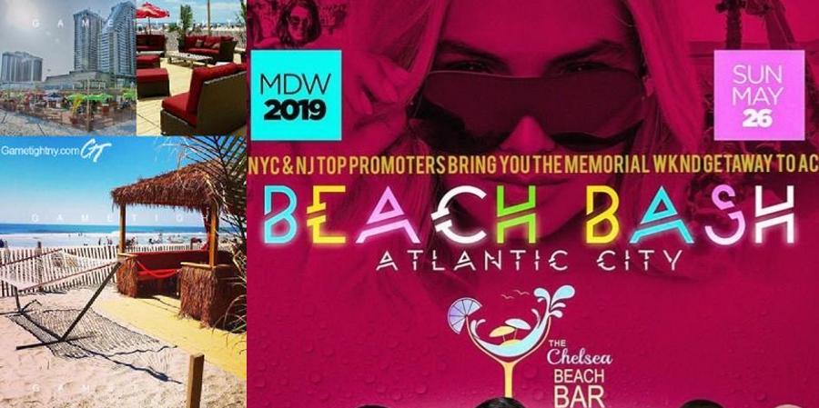 Hot97 Chelsea Beach Bar MDW Day Party in Atlantic City 2019 | GametightNY.com