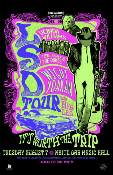 LSD Tour: L.Williams/S.Earle/D.Yoakam pres. by SiriusXM: Main Image