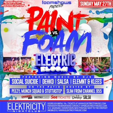 PAINT VS FOAM | ELECTRIC BLOOM: Main Image