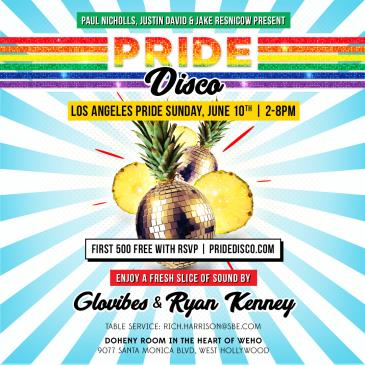 PRIDE DISCO: Los Angeles Pride Sunday at Doheny Room: Main Image
