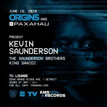 Paxahau Presents: Kevin Saunderson ORIGINS: Main Image
