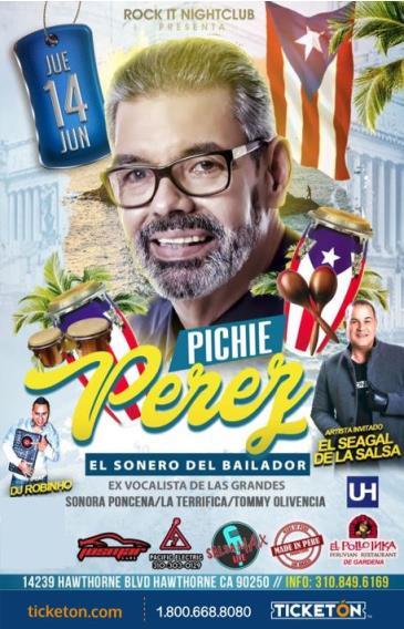 PICHIE PEREZ EX SONORA PONCENA EN LOS ANGELES: Main Image