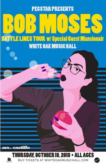 BOB MOSES - BATTLE LINES TOUR  w/ Special Guest Mansionair: Main Image