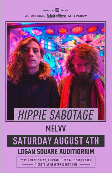 Hippie Sabotage with Melvv  **SOLD OUT**: Main Image