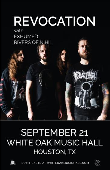 Revocation, EXHUMED, RIVERS OF NIHIL: Main Image