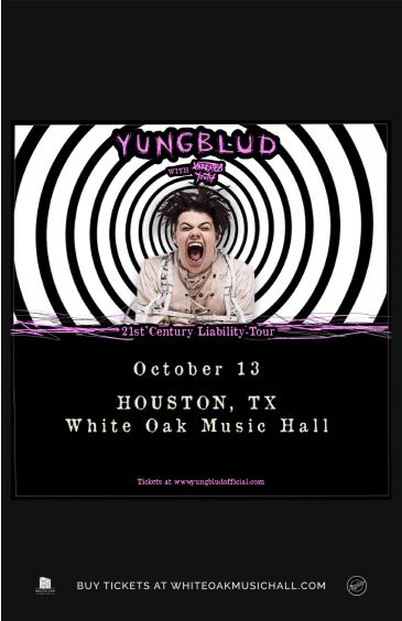 YUNGBLUD - 21st Century Liability Tour with Arrested Youth: Main Image