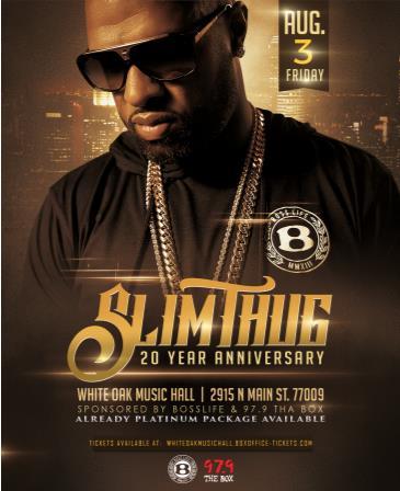 Slim Thug 20 Year Anniversary: Main Image