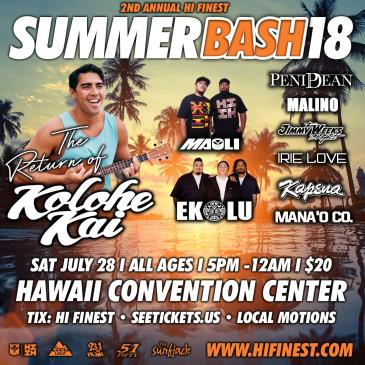 Hawaii's Finest Summer Bash '18: Main Image