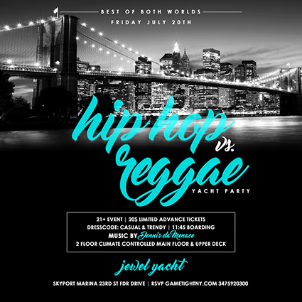NYC Hip Hop vs. Reggae Yacht Party | GametightNY.com