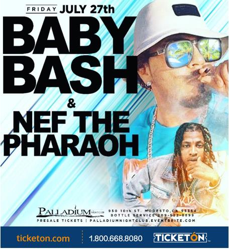 baby bash & Nef modesto Tickets Boletos Palladium