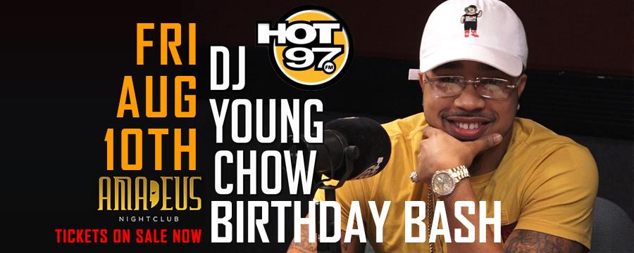 Hot 97 Dj Young Chow Birthday Bash at Amadeus Nightclub | GametightNY.com