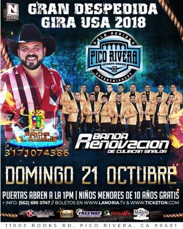 RANCHO EL AGUAJE | BANDA RENOVACION /DESPEDIDA GIRA 2018: Main Image