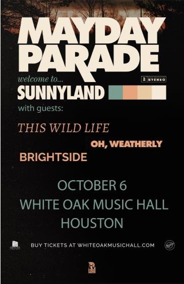 Mayday Parade, This Wild Life, Oh, Weatherly, Brightside: Main Image
