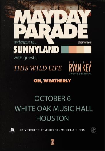Mayday Parade, This Wild Life, William Ryan Key, Oh, Weather: Main Image