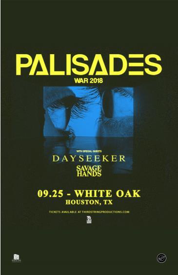 Palisades, Dayseeker, Savage Hands, Backdrop Violet: Main Image